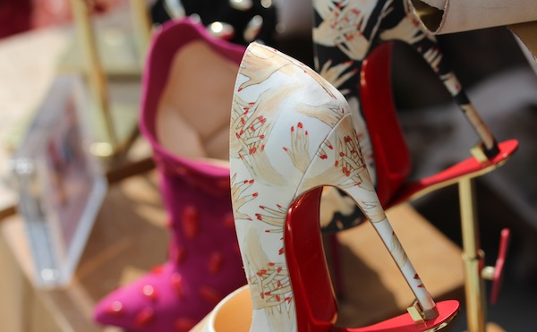 Christian Louboutin Beauté hand shoes london launch