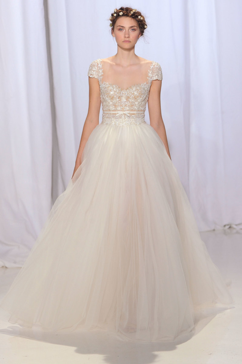 best wedding dresses fall fall wedding dresses A look from the Reem Acra fall bridal collection Photo Imaxtree