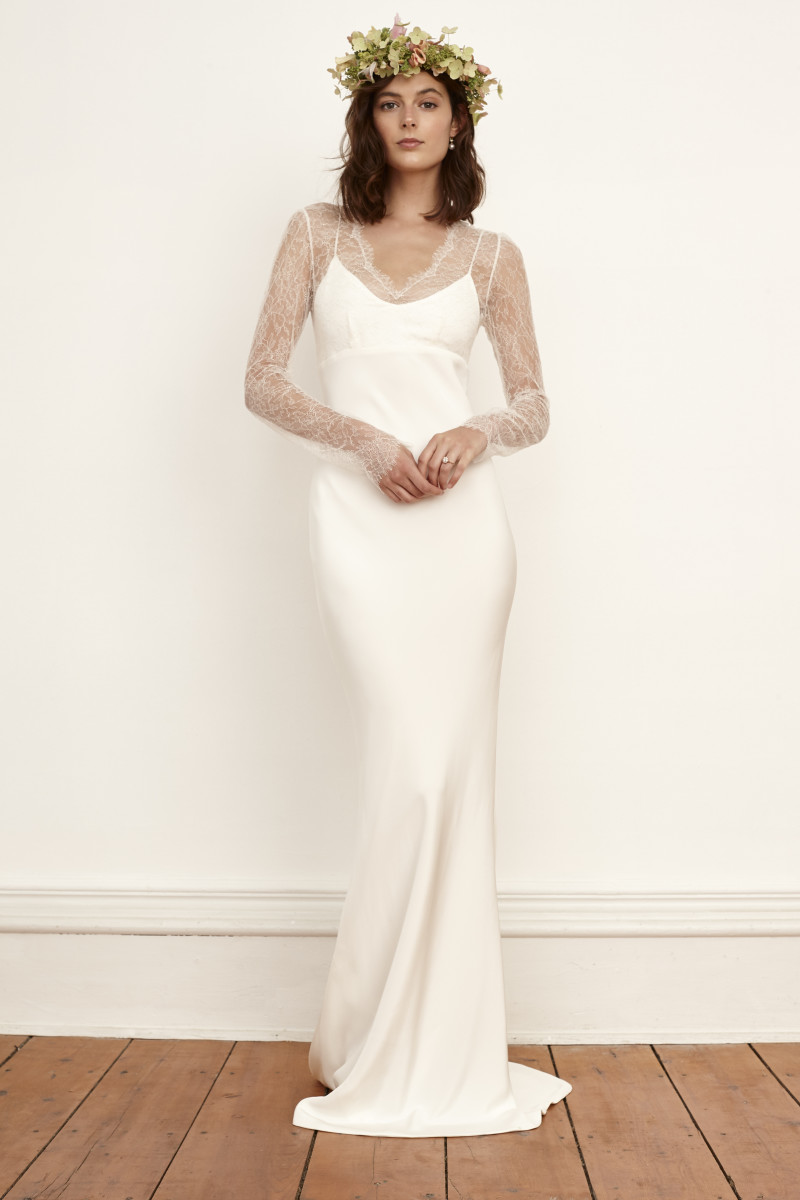 best wedding dresses fall wedding dresses for fall A look from the Savannah Miller fall bridal collection Photo Courtesy