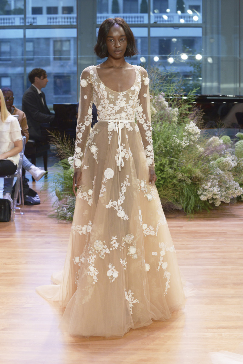 best wedding dresses fall best wedding dress The Hailee a look from the Monique Lhuillier fall bridal collection Photo
