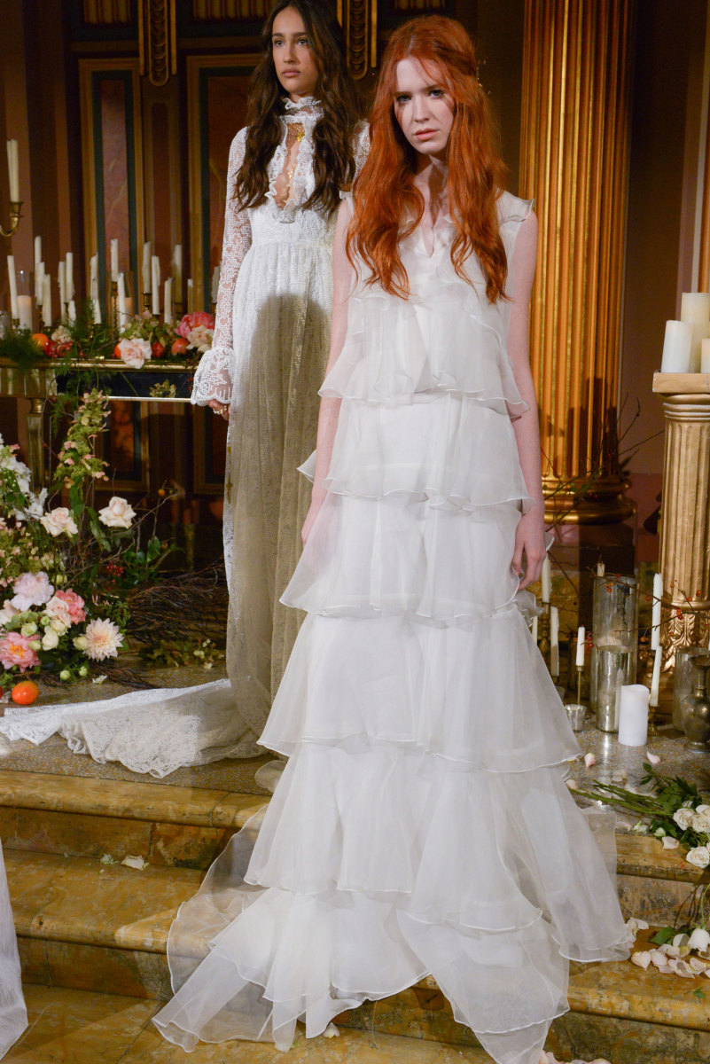 best wedding dresses fall fall wedding dresses Looks from the Odylyne the Ceremony fall bridal collection Photo Imaxtree