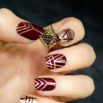 Beautiful Stylish Painted Nail Art Design Collection 2013-14 (5)
