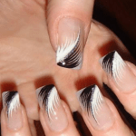 Fall 2013 Beautiful Black Style Nails Design Collection (11)