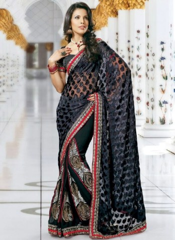 Indian Latest Black Saree Collection 2013-14 for Women (8)