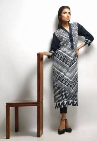 Khaadi Latest Black and White Dress Collection For Women (1)