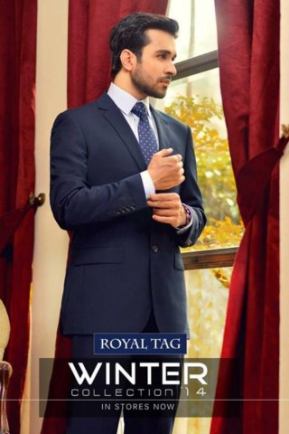 Latest Winter Suits 2014 For Men By Royal Tag (8)