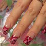 Girls Nails Designs Christmas New Year