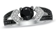 Women Zales Black Diamond Rings Collection