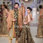 HSY Stylish Embroidery Bride Groom Dresses at Pantene Bridal Couture (1)