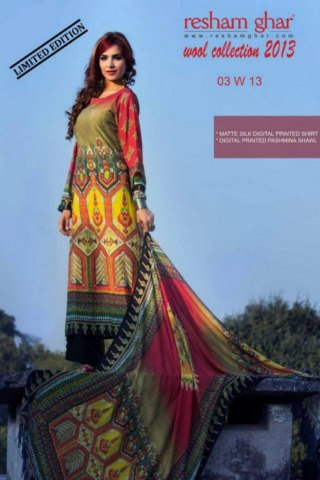 Resham Ghar Winter Wool Dress Collection 2013-14 For Ladies (3)