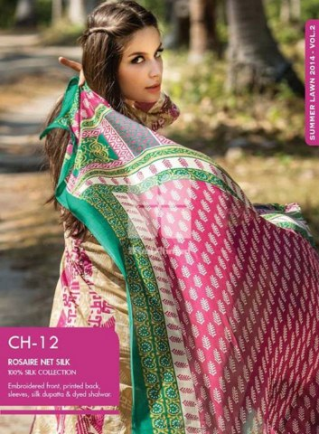 Gul Ahmed original collection 2014 for summer