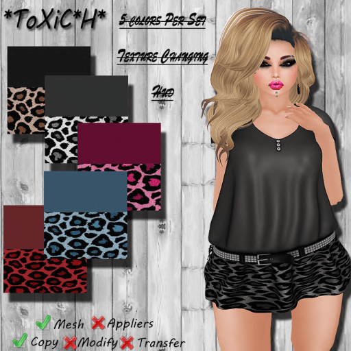 _ToXiC_H_ Lilly Blouse - Dress Kat Girl  Color Changing Hud