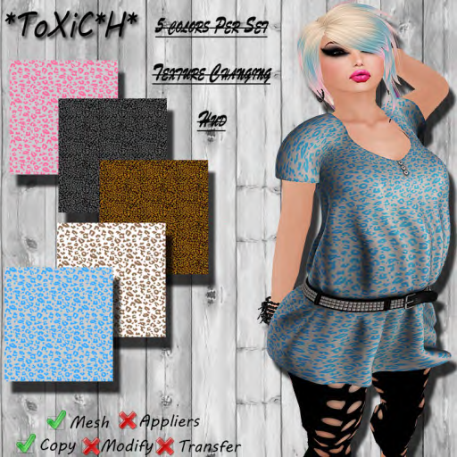 _ToXiC_H_ Lilly Blouse - Dress Wild Girl Color Changing Hud