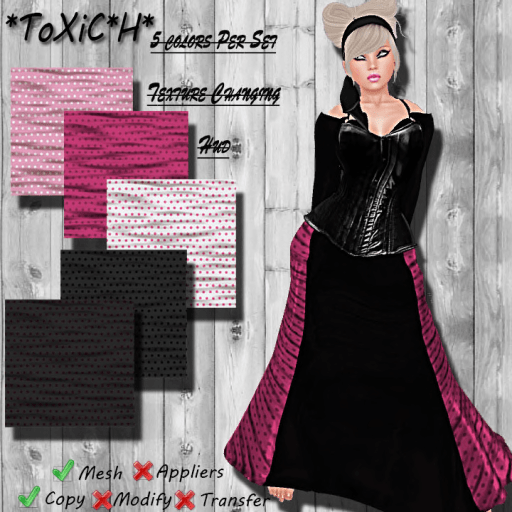 _ToXiC_H_ Elvira Dress Retro With Texture Changer