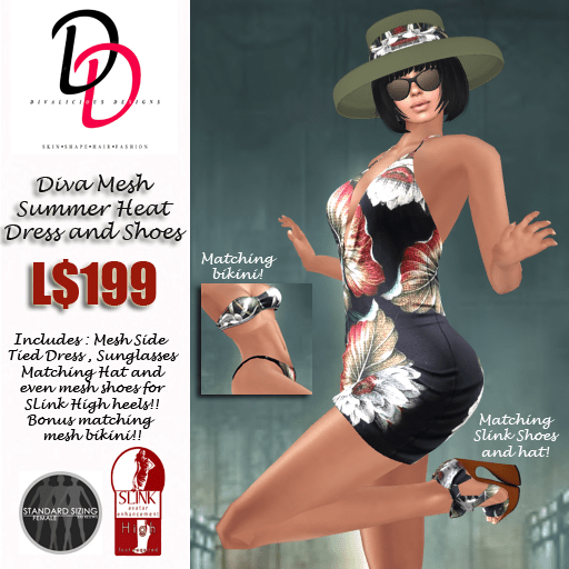 Diva Summer Heat outfit and slink shoes poster v2
