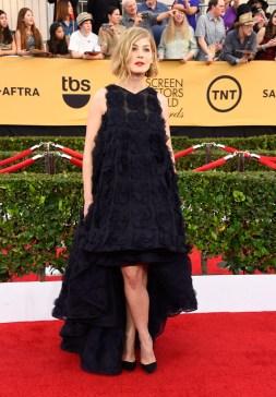 Rosamund Pike in Dior Haute Couture