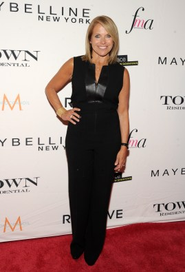 NEW YORK, NY - SEPTEMBER 10: Journalist Katie Couric attends The Daily Front Row's Third Annual Fashion Media Awards at the Park Hyatt New York on September 10, 2015 in New York City. (Photo by Rommel Demano/Getty Images for The Daily Front Row)