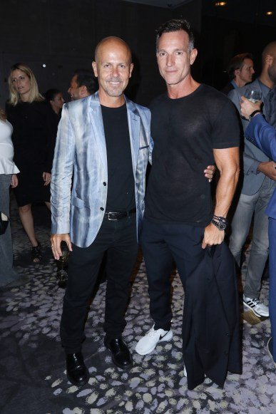 NEW YORK, NY - SEPTEMBER 10: Italo Zucchelli and George Kolasa attend The Daily Front Row's Third Annual Fashion Media Awards at the Park Hyatt New York on September 10, 2015 in New York City. (Photo by John Parra/Getty Images for The Daily Front Row)