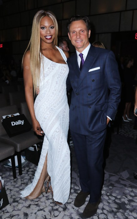 NEW YORK, NY - SEPTEMBER 10: Laverne Cox and Tony Goldwyn attend The Daily Front Row's Third Annual Fashion Media Awards at the Park Hyatt New York on September 10, 2015 in New York City. (Photo by Larry Busacca/Getty Images for The Daily Front Row)