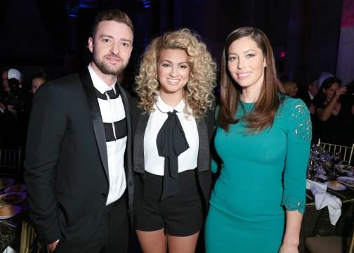 Jessica Biel, Tori Kelly, Justin Timberlake