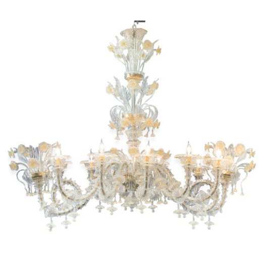 Striulli Vetri d'Arte - Murano Glass Oval Chandelier - Available on www.artemest.com
