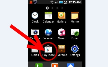 Play Store icon on Android Home Screen
