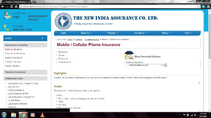 Mobile phone insurance companies in India