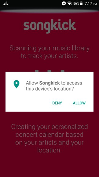 How to use Songkick App