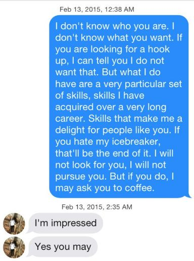 Tinder chat up lines