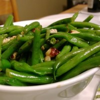 Haricot Vert with Black Truffle Hazelnut Vinaigrette