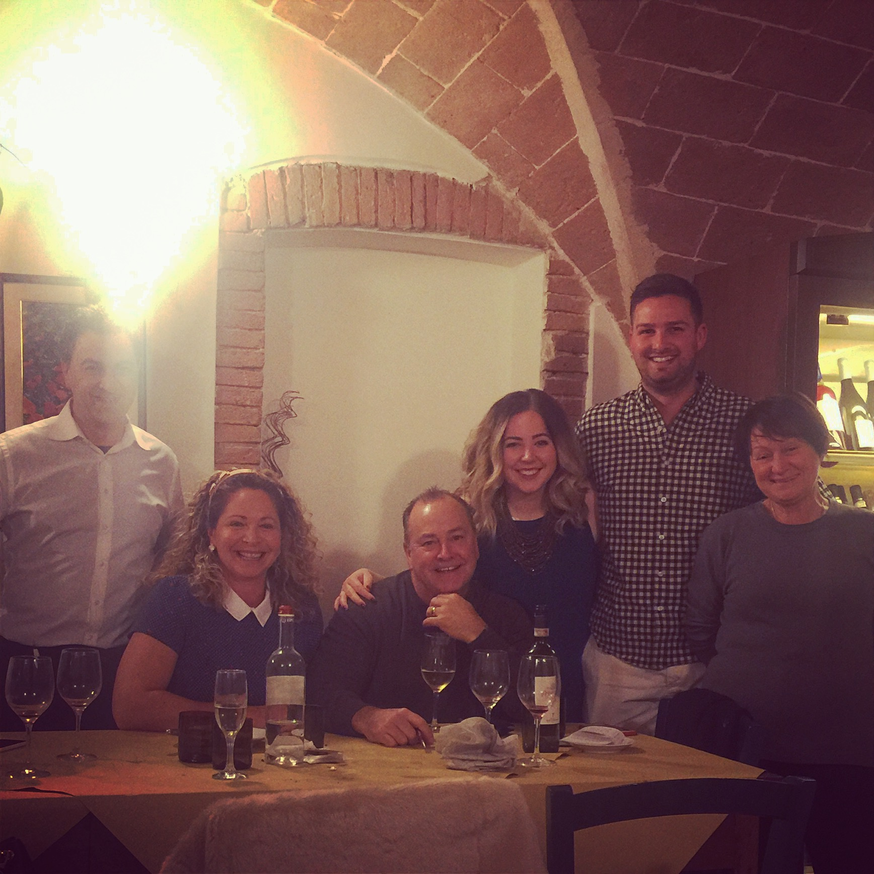 FROM THE LEFT: Roberto Letteri (Osterio Del Borgo), Joanne Hazelwood (my mother), Mark Hazelwood (my step father), me, Paul Bohn (my fiancee), Alba (chef at Osteria Del Borgo and also Robertos sister!!)