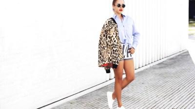 LOOK | See By Chloe Striped Shorts & Sonia Rykiel Leo Bomber Jacket