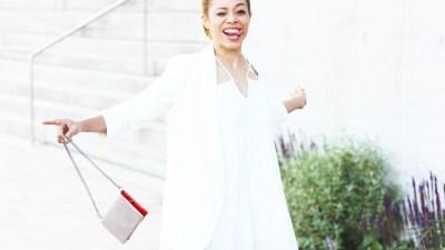 LOOK | Zara Off Shoulder Dress, White Blazer & FranCa Euphoria Clutch