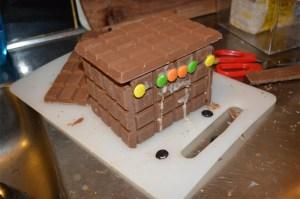 Slutresultatet av vårt chokladhus
