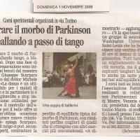 TANGO ARGENTINO e MORBO DI PARKINSON