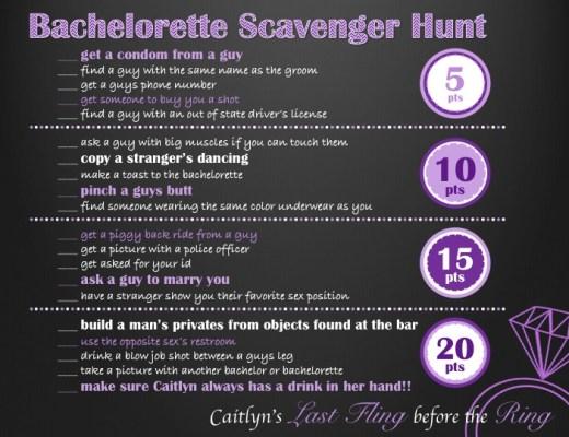 Bachelorette Scavenger Hunt
