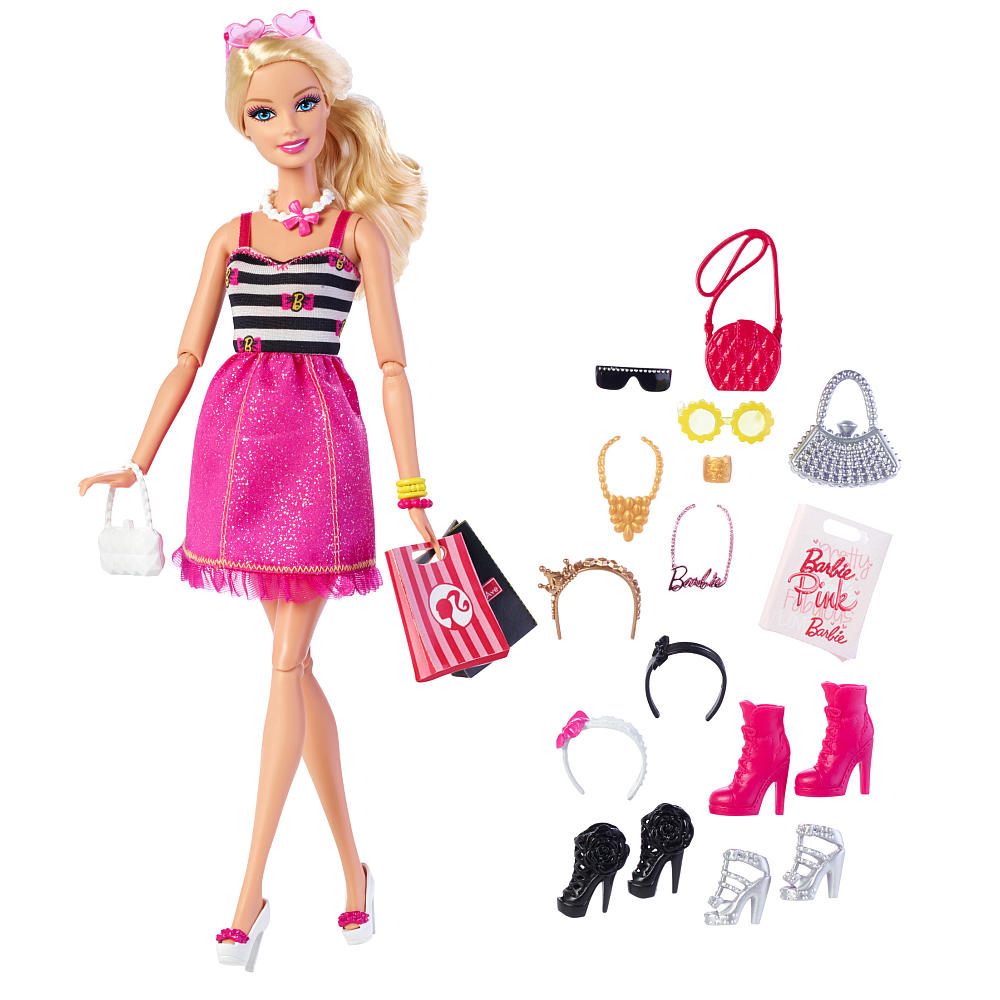Barbie with glam Accessories