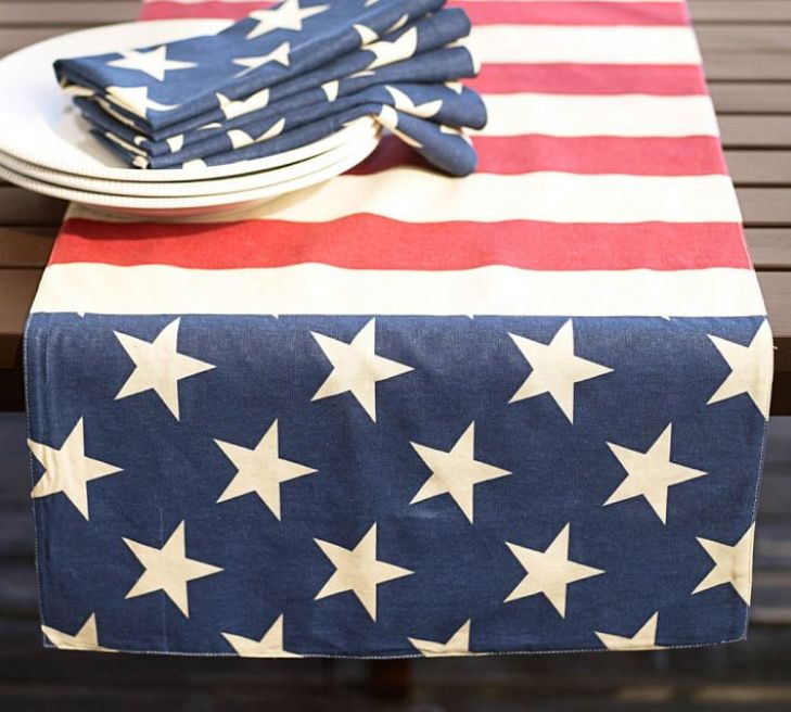 Roll out this monogrammed table runner for any summer BBQ or patriotic party