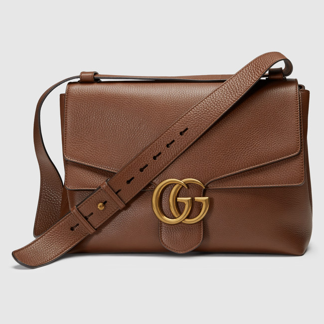 Gucci Marmont Brown Leather Handbag