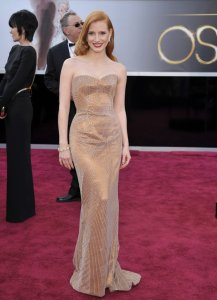 Jessica Chastain in Armani Prive Oscars 2013