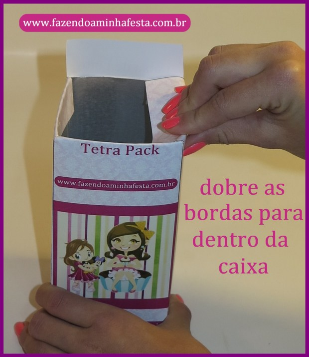 Dobre as sobras para dentro da caixa