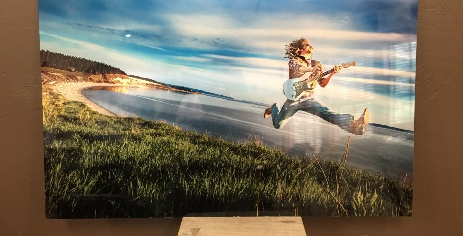 Leaping Levi on Metal Print