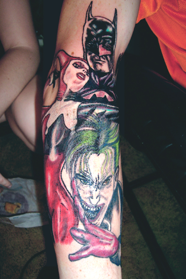 Batman Harley Quinn and Joker by Sp0okyOne As melhores tatuagens do Coringa: galeria de fotos