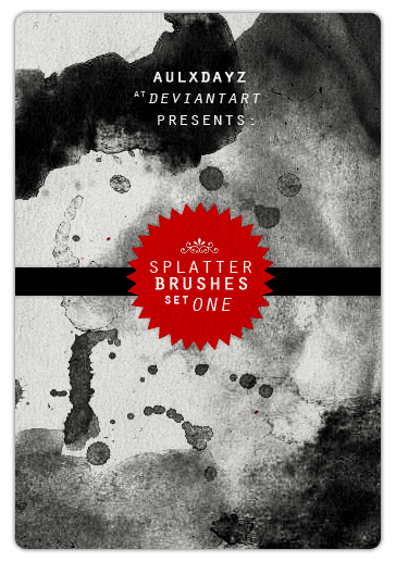 set 1   splatter brushes by aulxdayz d4nqqa8 10 Awesome Grunge Photoshop Brushes | Download