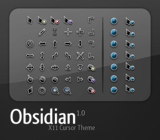 Download Obsidian Cursor Pack