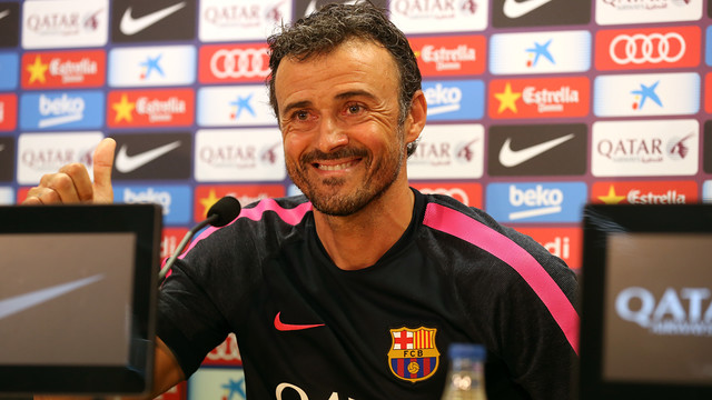 Luis Enrique & Dani Alves press conference