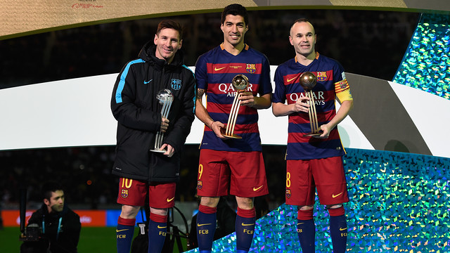 The Club World Cup podium