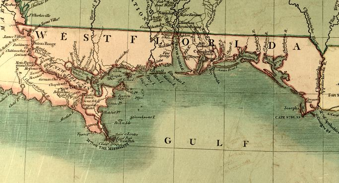 Map of West Florida  1806