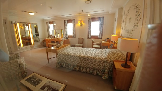 The Queen's Bedroom on The Royal Yacht Britannia
