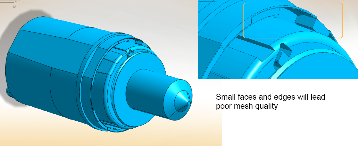 CAD part corresponding to the inner fluid domain